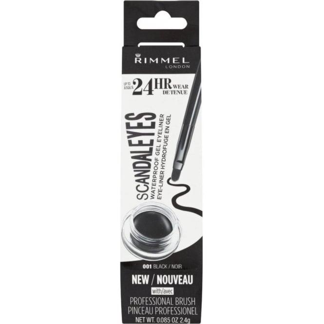 Rimmel 24HR Scandaleyes Waterproof Gel Eyeliner - 001 Black
