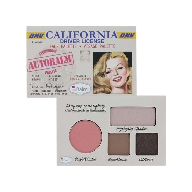 """TheBalm Autobalm California """"Driver Licence"""" Face Palette 4-in-1"""