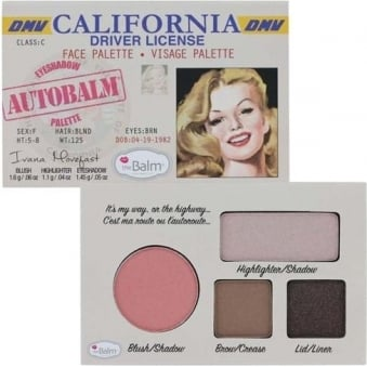 "Autobalm California ""Driver Licence"" Face Palette 4-in-1"