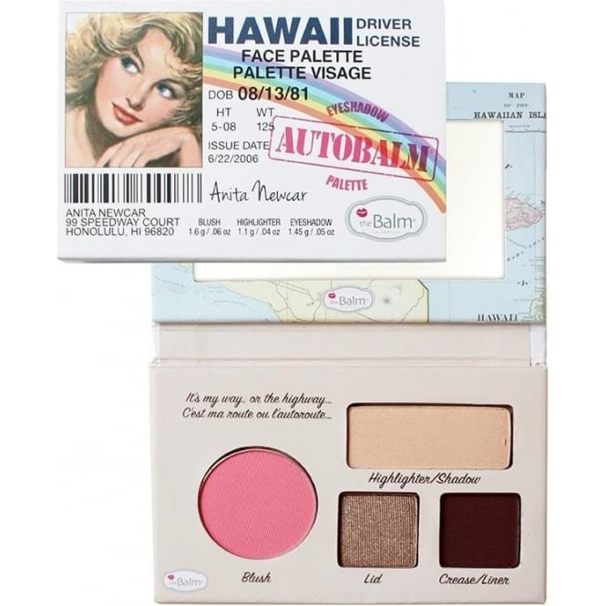 "TheBalm Autobalm Hawaii ""Driver Licence"" Face Palette 4-in-1"