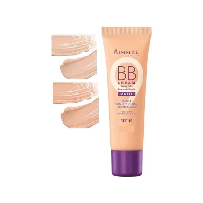 Rimmel BB Beauty Balm Cream Matte 9-in-1 Skin Perfecting Super Makeup