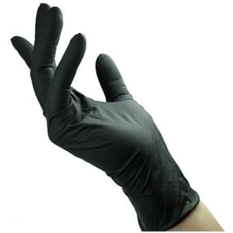 Black Latex Hair Dye Gloves 5 Pairs (Large)