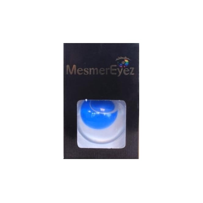 Mesmereyez - Hunt Or Dye Blue Blind Contact Lenses - 1 Day / Use Fancy Dress Accessories - Blind Blue
