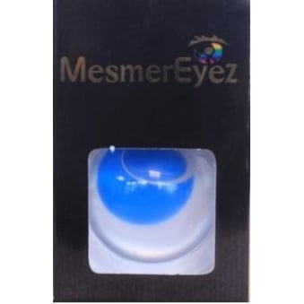 Blue Blind Contact Lenses - 1 Day / Use Fancy Dress Accessories - Blind Blue