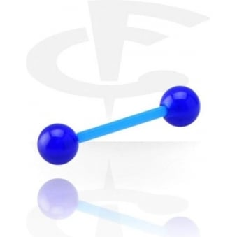 Blue Flexible Barbell