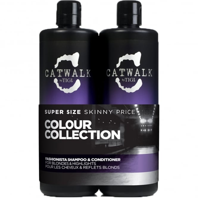 Tigi Catwalk -  Fashionista Violet Tween Shampoo & Conditioner Duo For Blondes and Highlights 2x 750ml