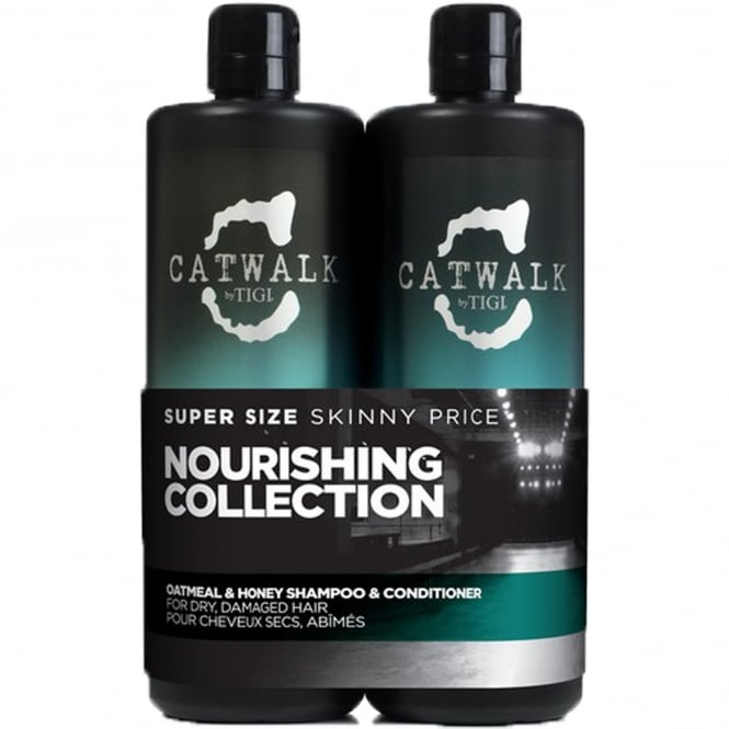 Tigi Catwalk - Oatmeal & Honey Nourishing Tween Shampoo & Conditioner Duo for Dry, Damaged Hair 2x 750ml