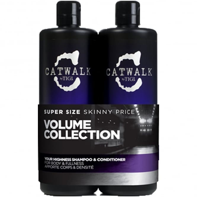 Tigi Catwalk - Your Highness Tween Shampoo & Conditioner Duo For Body and Fullness 2x 750ml
