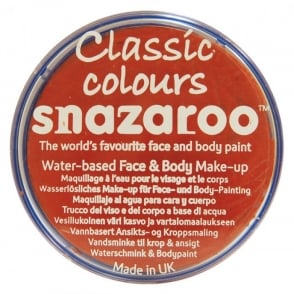 Classic Colours Water Based Face & Body Paint - Dark Orange 18ml