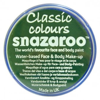 Classic Colours Water Based Face & Body Paint - Grass Green 18ml