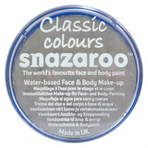 Classic Colours Water Based Face & Body Paint - Light Grey 18ml
