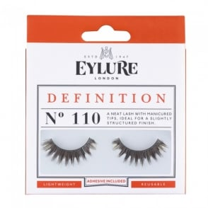 Definition No 110 Reusable Structured Finish Eyelashes (Adhesive Included)