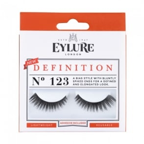 Definition No 123 Reusable Spiked Ends Eyelashes (Adhesive Included)