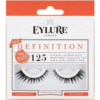 Definition Pre-Glued Strip Lashes - (125)