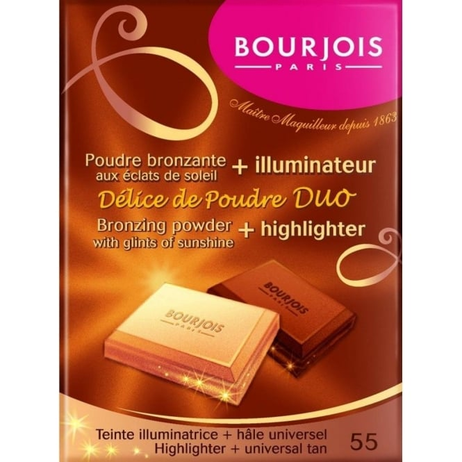 Bourjois Delice De Poudre Duo Bronzing Powder and Highlighter - 55