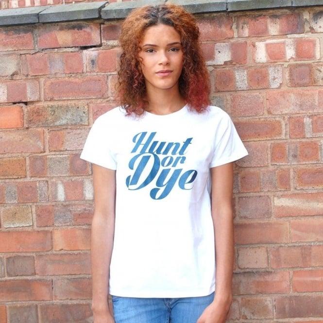 Hunt Or Dye Denim Logo Hunt Or Dye Ladies White T-Shirt