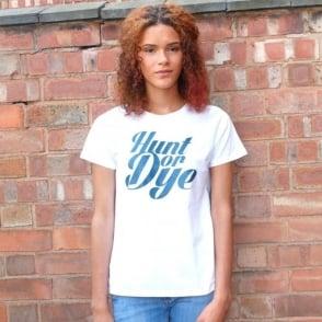 Denim Logo Hunt Or Dye Ladies White T-Shirt