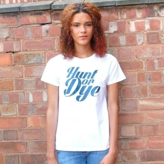 Denim Logo Hunt Or Dye Ladies White T-Shirt