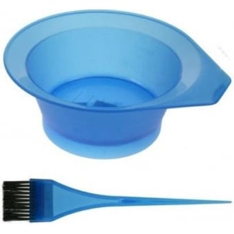 Denman - Frosted Tinting Bowl & Brush Set (blue)