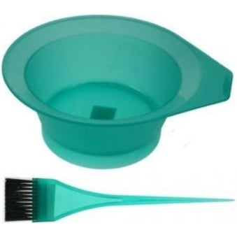 Denman - Frosted Tinting Bowl & Brush Set (Green)