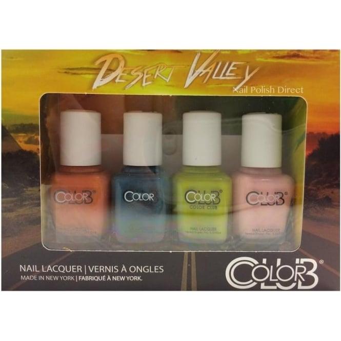 Color Club Desert Valley Nail Polish Collection - 4 Piece Mini Gift Set (4x 7mL)