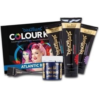 Directions Hair Dye Colour Complete Kit (x7 Piece Set) - Atlantic Blue