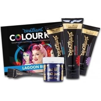 Directions Hair Dye Colour Complete Kit (x7 Piece Set) - Lagoon Blue