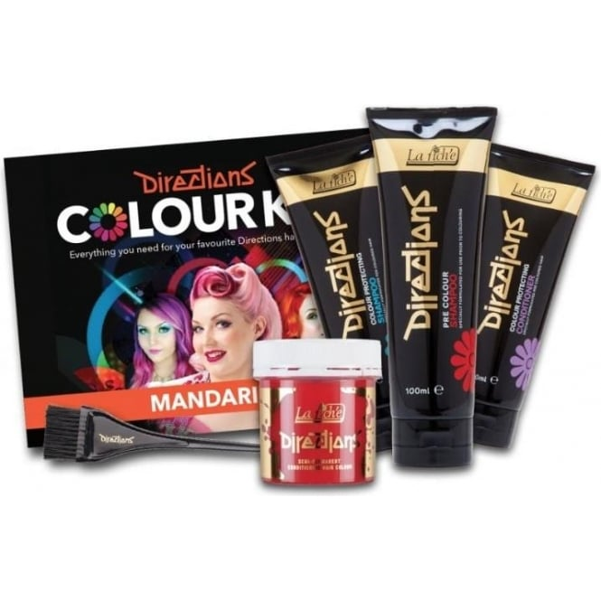 La Riche Hair Dye Directions Hair Dye Colour Complete Kit (x7 Piece Set) - Mandarin