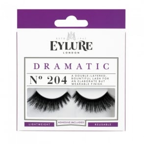 Dramatic No 204 Reusable Double Layered Eyelashes (Adhesive Included)