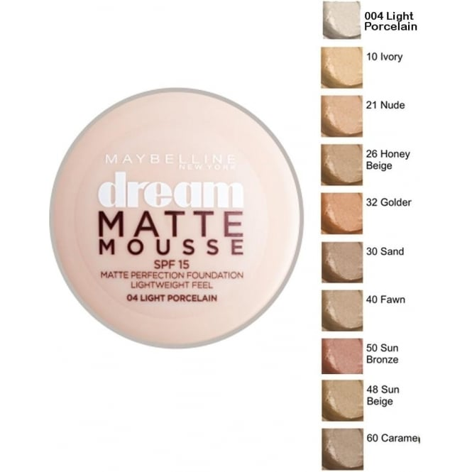 Maybelline Dream Matte Mousse Perfection Foundation SPF15 (18ml)