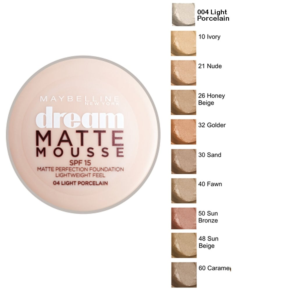 Maybelline Dream Matte Mousse Foundation - 18 g - Price in