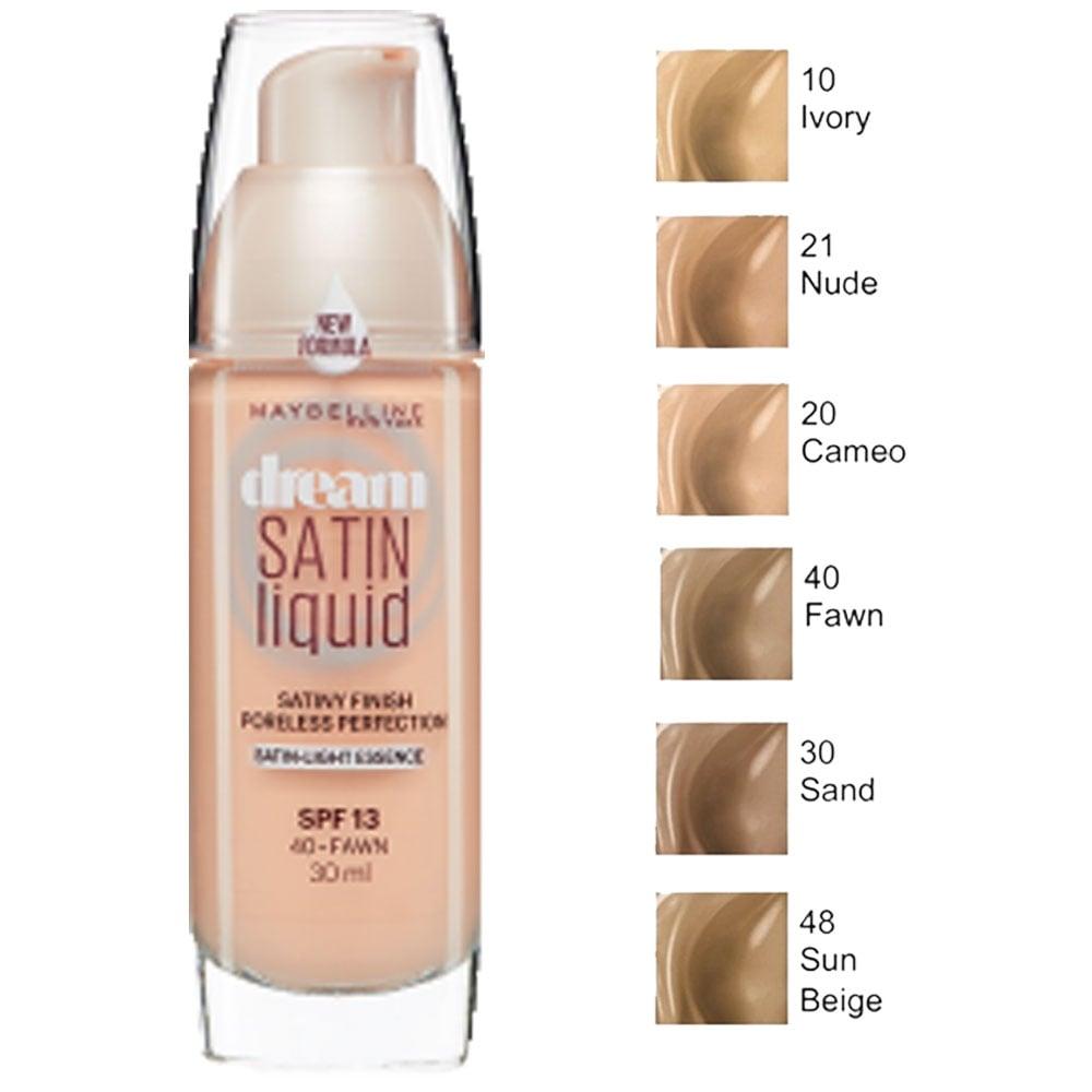 Maybelline New York Dream Satin Liquid Foundation, Nude