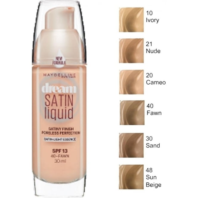 Maybelline Dream Satin Air-Brush Perfection Liquid Foundation SPF13 30ml