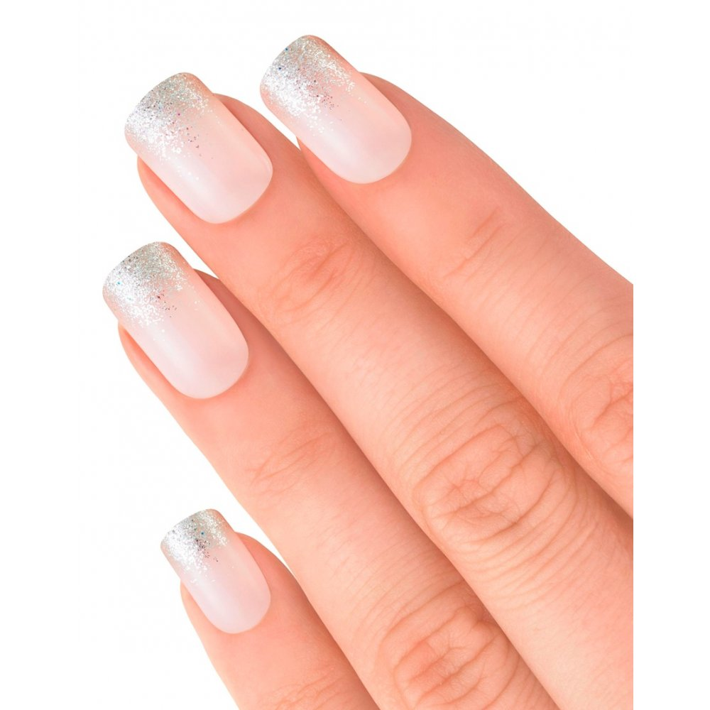 Elegant Touch False Nails Statement French - Glitter Up (24 Pack)