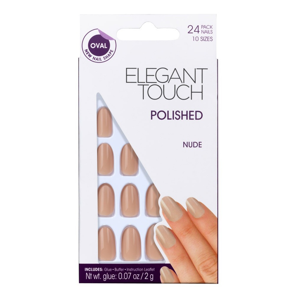 Elegant Touch False Oval Nails - Power Nude Free UK Delivery