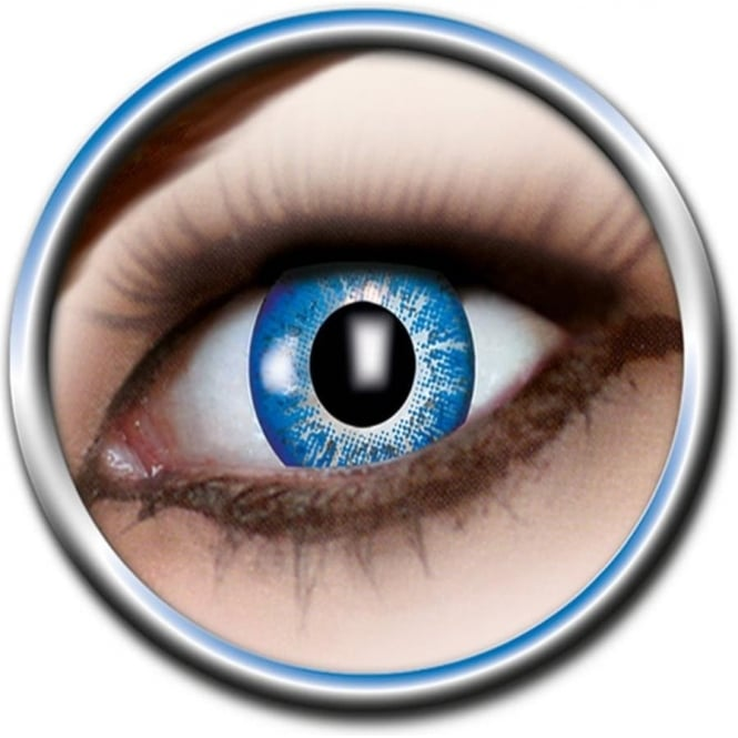 Eye Catcher Tone Lenses - One Tone - Blue Dash (A03) - (Usage: 12 Months - 1 Pair)