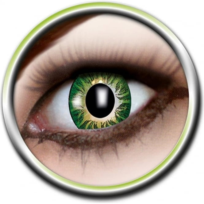 Eye Catcher Tone Lenses - Three Tone - Green Blast (A77) - (Usage: 12 Months - 1 Pair)