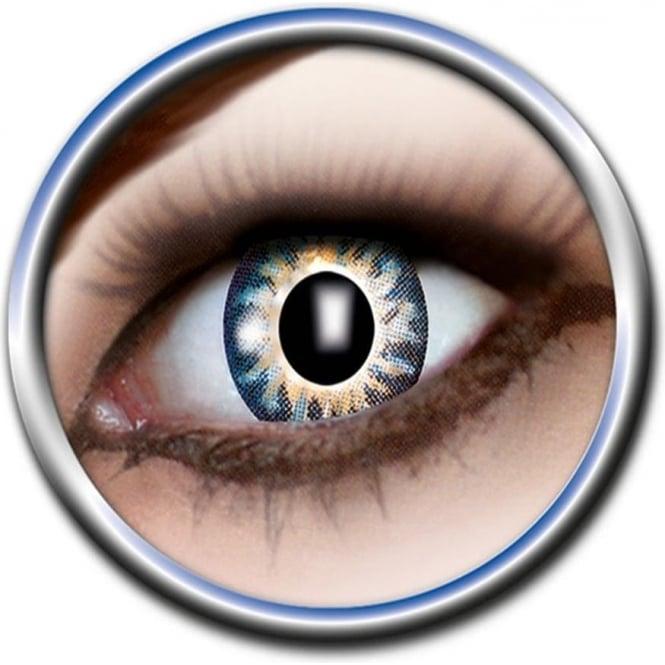 Eye Catcher Tone Lenses - Two Tone - Black Flag (A59) - (Usage: 12 Months - 1 Pair)