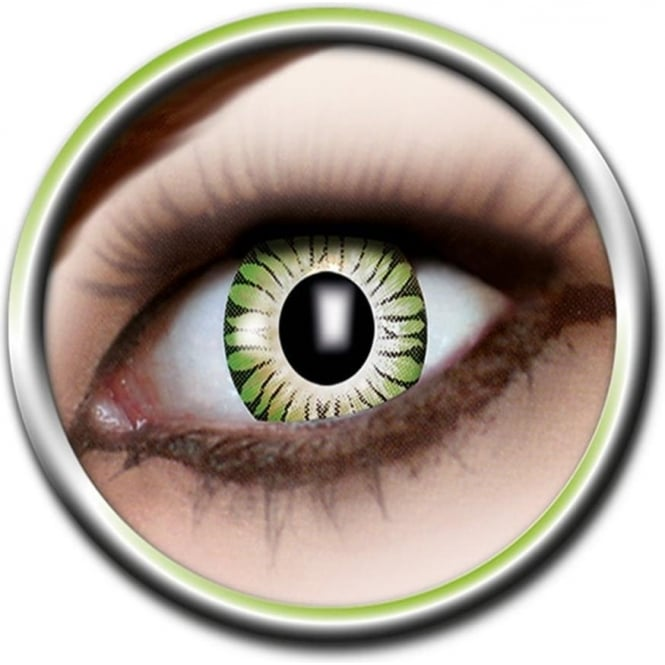 Eye Catcher Tone Lenses - Two Tone - Green Burst (A50) - (Usage: 12 Months - 1 Pair)