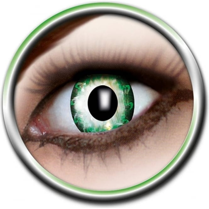 Eye Catcher Tone Lenses - Two Tone - Green Flower (A58) - (Usage: 12 Months - 1 Pair)