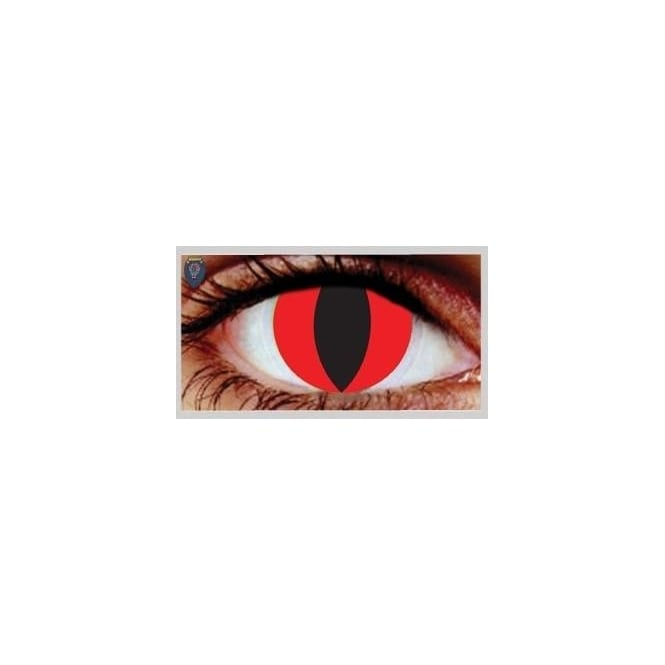Eyecasions Fashion 30 Day Wear Eye Contact Lenses - Red Cat (1 Pair)
