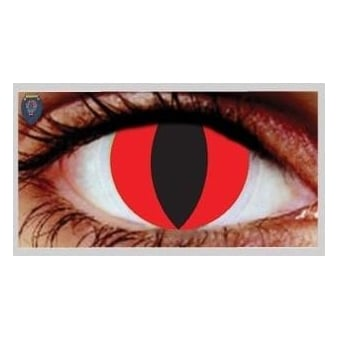 Fashion 30 Day Wear Eye Contact Lenses - Red Cat (1 Pair)