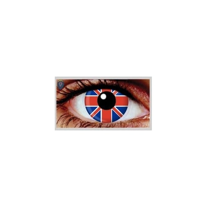 Eyecasions Fashion 30 Day Wear Eye Contact Lenses - Union Jack (1 Pair)
