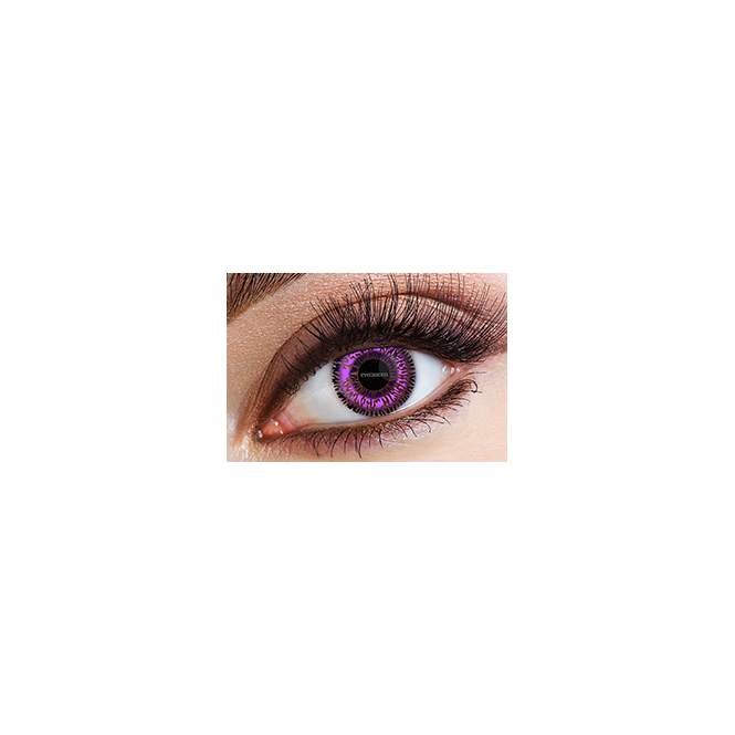 Eyecasions Fashion Fancy Dress 1 Month 2 Tone Wear Contact Lenses - Violet (1 Pair)