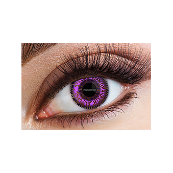 Fashion Fancy Dress 1 Month 2 Tone Wear Contact Lenses - Violet (1 Pair)