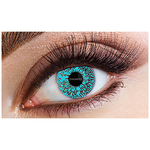 Fashion Fancy Dress 1 Month Contact Lenses - Aqua (1 pair)