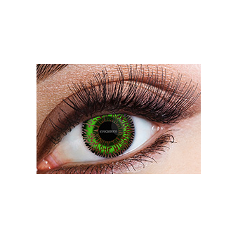 Fashion Fancy Dress 1 Month Tone Contact Lenses - Green (1 pair)