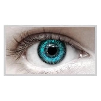 Fashion Fancy Dress 1 Month Wear 2 Tone Contact Lenses - T.T Aqua (1 pair)