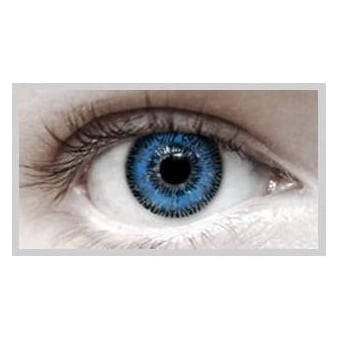 Fashion Fancy Dress 1 Month Wear 2 Tone Contact Lenses - T.T Blue (1 pair)