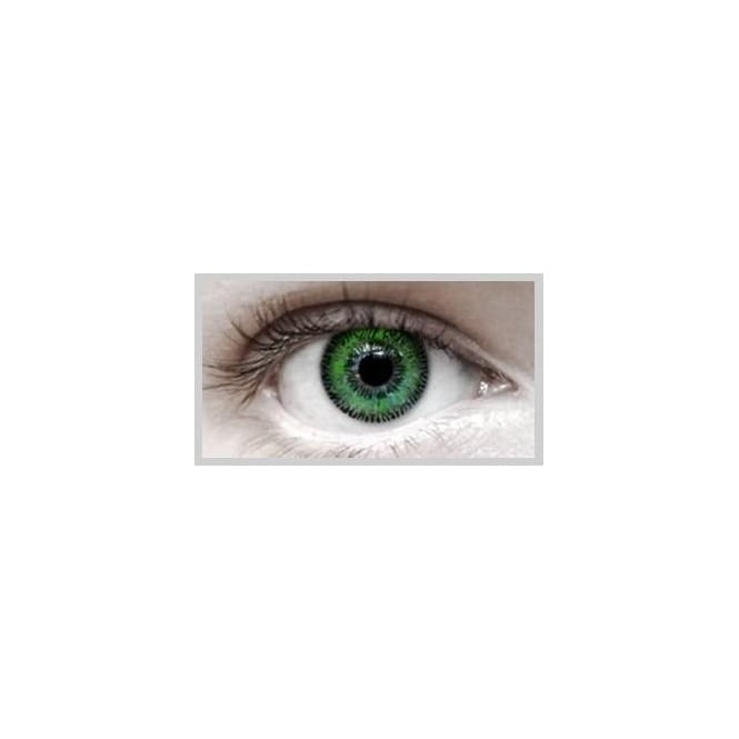 Eyecasions Fashion Fancy Dress 1 Month Wear 2 Tone Contact Lenses - T.T Green (1 pair)